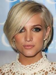 how would you style ear length hair short blonde bob with side bangs for after frying my hair when