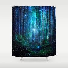 magical path shower curtain by haroulita society6