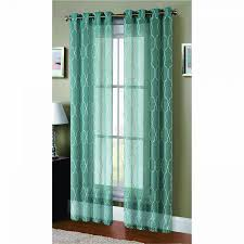 Teal Drapes Curtains Window Elements Boho Embroidered Faux Linen Sheer Extra Wide 108 X