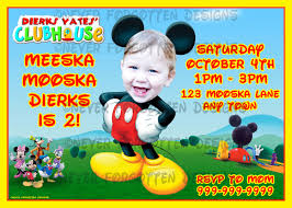 baby mickey invitations mickey mouse party invitations graduations invitations