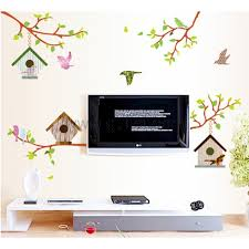 Home Decoration Wall Stickers Birds Nest Drawing Room Decoration Wall Sticker Personalized