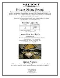 Private Dining Rooms Dc Private Dining Fact Sheet Georgetown