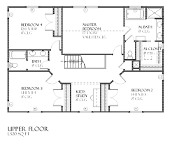 Center Hall Colonial Floor Plans Colonial Style House Plan 4 Beds 2 50 Baths 2517 Sq Ft Plan 901 86