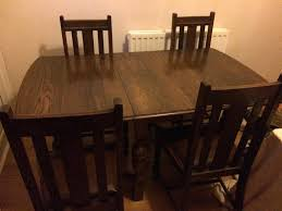 Oak Extending Dining Table And 4 Chairs Old Oak Dining Table Old Oak Dining Table And 4 Chairs Vintage