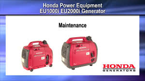 how to change the oil and air filter on honda eu1000i and eu2000i