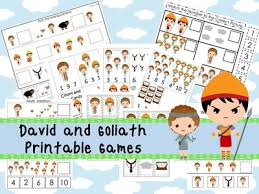 30 david and goliath themed preschool printable games and