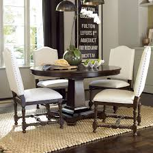 universal dining room furniture universal proximity round dining table with upholstered side