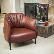Leather Chair Upholstery Tufted Brown Leather Dining Chairs High Quality Hardwood Frame And