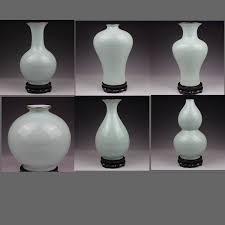 Porcelain Flower Vases Light Font B Celadon B Font Crackle Chinese Porcelain Flower Vases