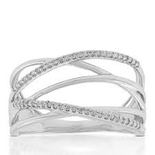 diamond crossover ring 14k ben bridge jeweler