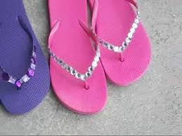 Decorate Flip Flops Diy Project More Blinged Out Flip Flops From Dollar Tree Youtube