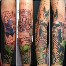 dragon ball z tattoo in progress u0026 massive coverup tattoo by