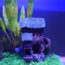 saim 6 3 aquarium castle ornaments fish tank background resin