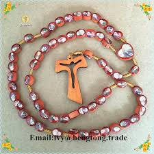 cheap rosaries freeship wholesale cheap oval wooden religious rosary with 2