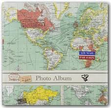 photo album with memo space par avion world map photo album 100 pockets memo space hello