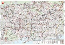 Plano Map Barcelona Urban Buses Map 2018