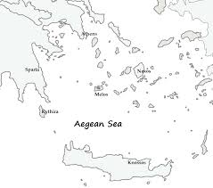Map Of Ancient Greece by Unlabeled Map Of Ancient Greece