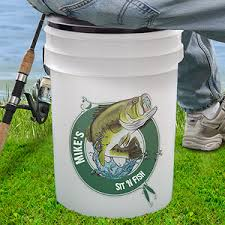 personalized buckets personalized fishing cooler sit n fish