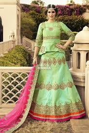 beautiful colour combination lehenga choli