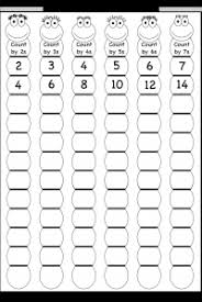 skip counting by 2 3 4 5 6 and 7 printable worksheets