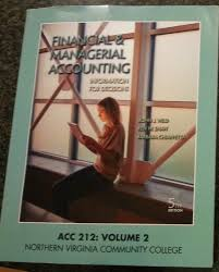 financial u0026 managerial accounting acc 212 volume 2