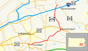 Map Of Hershey Pennsylvania by Pennsylvania Route 419 Wikipedia