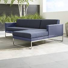 Patio Sectional Sofa Outdoor Sectional Sofas For Patio Relaxation Crate And Barrel