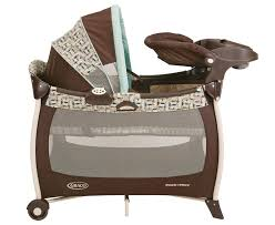 Pink And Brown Graco Pack N Play With Changing Table Bassinet In Pack N Play Baby And Nursery Furnitures