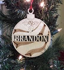 personalized ornament wooden name ornament
