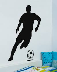 wall stickers sports promotion shop for promotional wall stickers football player wall decal soccer vinyl wall sticker sports gym dorm room decor wall art 3d poster removable vinyl mural a172