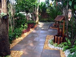 outdoor cute small garden ideas with small pathway decorating