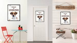 Dog Home Decor Beware Of Jack Russell Home Decor Gift Ideas Wall Decoration