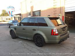 green land rover range rover sport hse wrapped in frozen green midnight sand matte