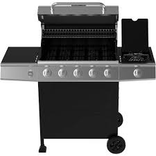 Brinkmann 6 Burner Bbq by Backyard Grill 5 Burner Gas Grill Black Walmart Com