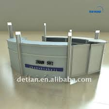 Portable Reception Desk Trade Show Display Exhibition Stand Arc Shaped Table Reception