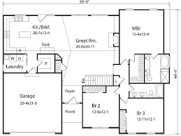 Large Ranch Floor Plans 12 One Story House Plans Large Great Room Ranch Floor With