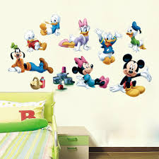 cartoon mickey minnie mouse donald duck art mural poster sticker see larger image