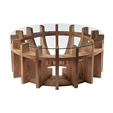 Side Table Designs by Wooden Sundial Coffee Table Design By Lazy Susan U2013 Burke Decor