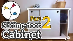 you can make a cabinet with sliding doors part 2 of 2 u2013 dyi