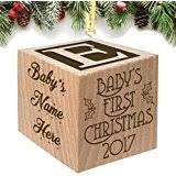 amazon com baby u0027s first christmas ornament 2017 pink