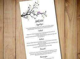 diy wedding menu cards diy wedding menu template instant printable menu