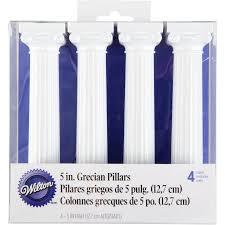 cake pillars wilton 5 grecian cake pillars 4 ct 303 3703 walmart