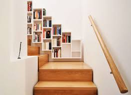 stair bookcase accessories wooden white bookcase in the stairs 22 cool ways to