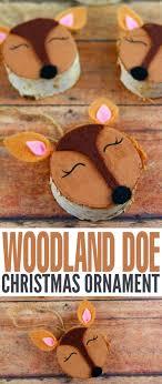 wood slice woodland doe ornaments frugal eh