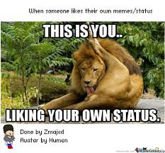 Meme Your Own Photo - liking your own memes status by zmajxd meme center