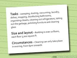 bid for how to write a cleaning bid 5 steps with pictures wikihow
