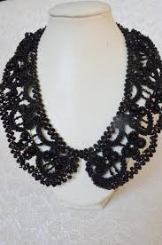 black seed bead necklace images Black statement collar necklace beaded necklace seed bead jpg