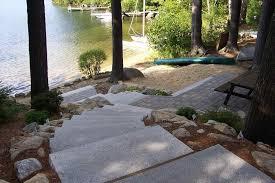 Belgard Patio Pavers by Lakefront Landscape Ideas Backyard Fence Ideas
