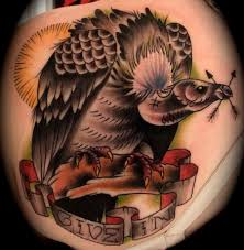 vulture with skull tattoo designs pictures to pin on pinterest