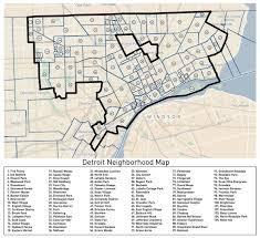 Boston Downtown Map by Loveland U0027s Detroit Neighborhoods Map Detroitography